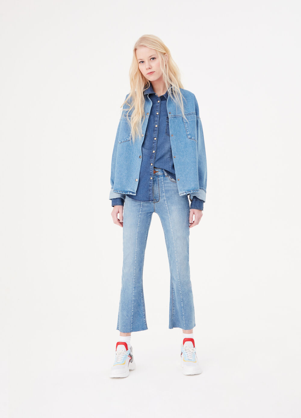 0e20eb9b8293 Denim jacket with bell sleeves
