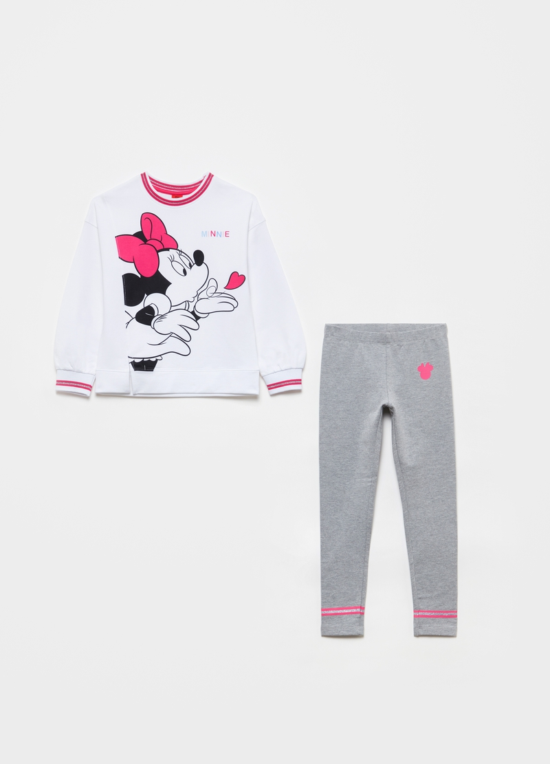 Jogging set felpa e leggings Disney Minnie image number null