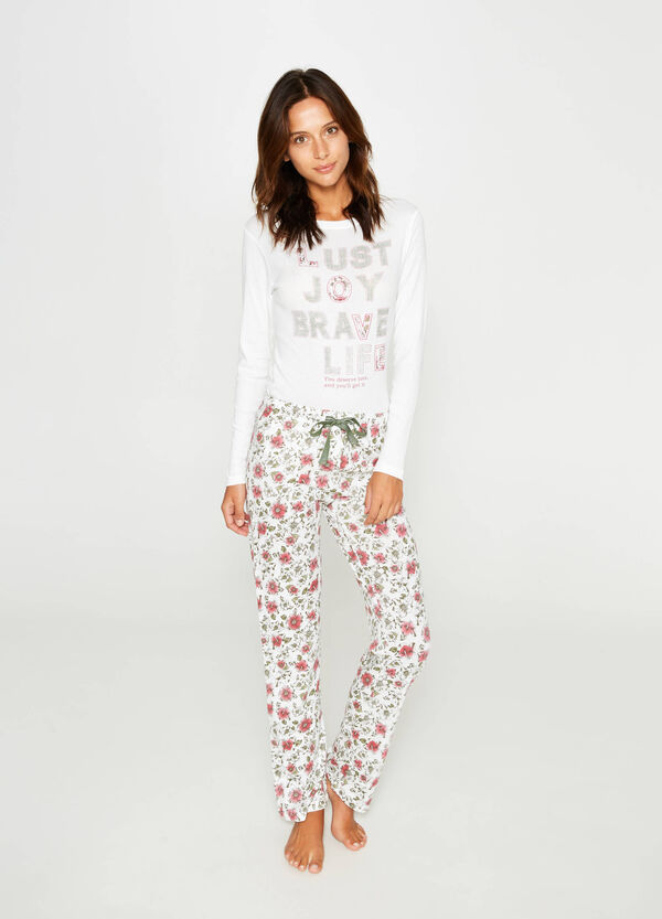 Solid colour and floral cotton pyjamas | OVS
