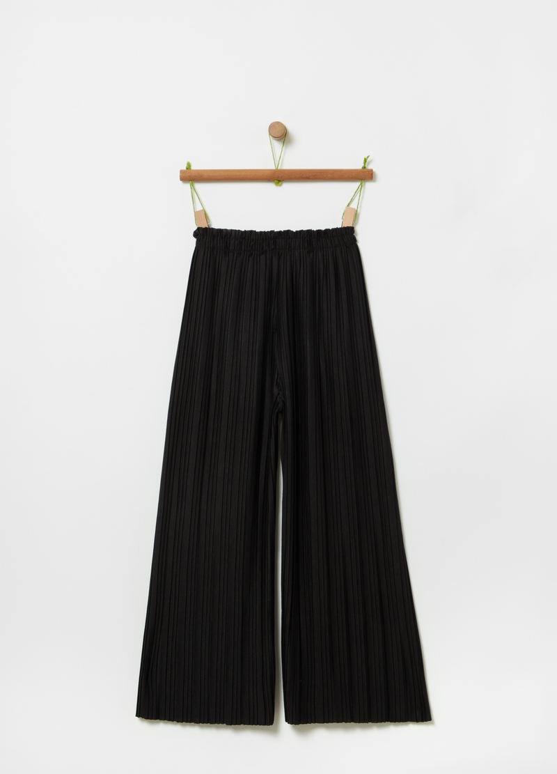 Pleated trousers with drawstring image number null