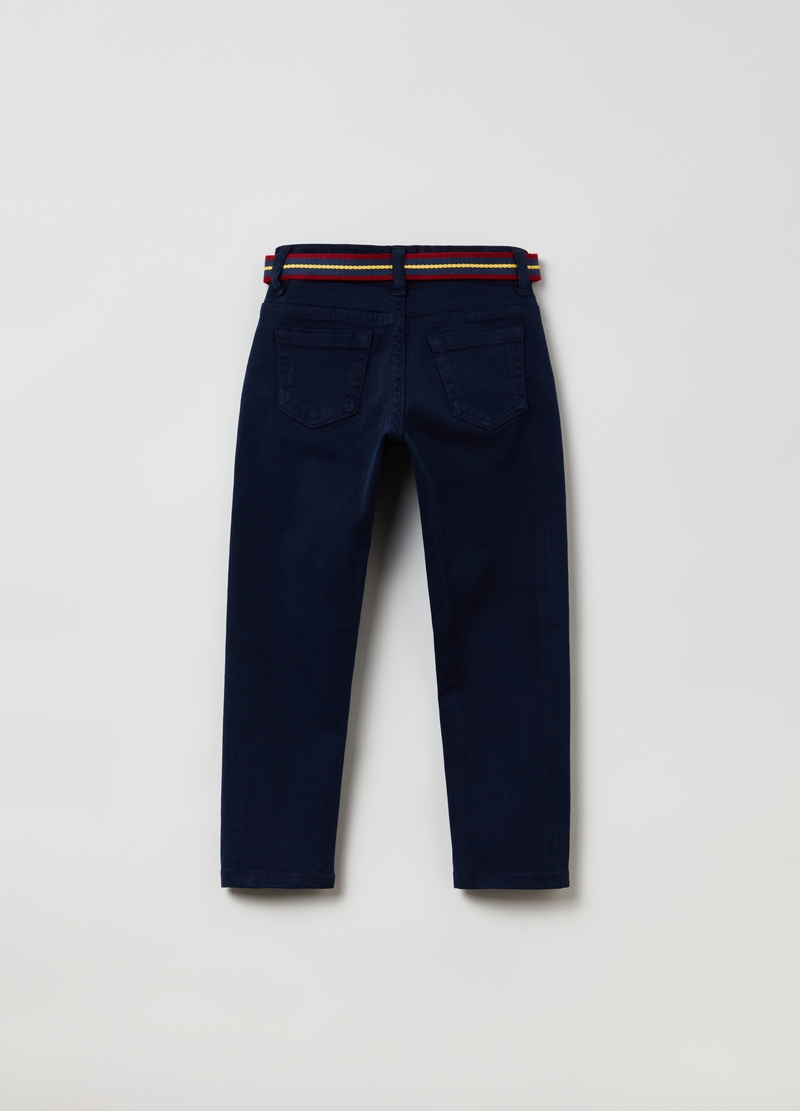Pantaloni in twill con cintura image number null