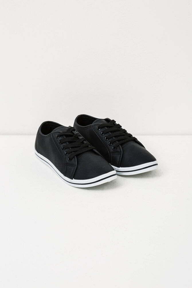 Solid colour sneakers with laces