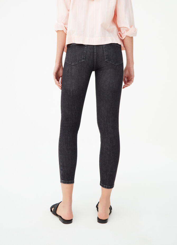 Washed-effect superskinny-fit jeans