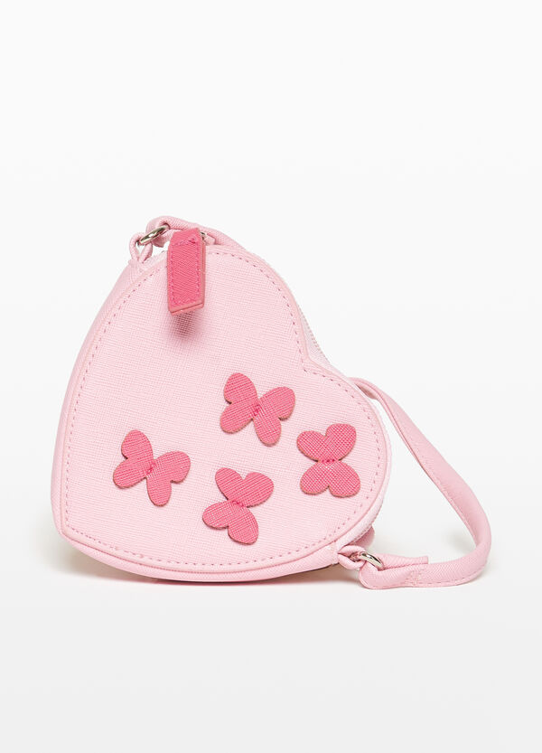 Saffiano heart-shaped shoulder bag