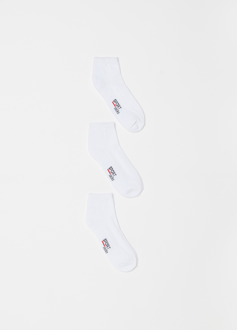 Three-pack pop socks in stretch terry image number null