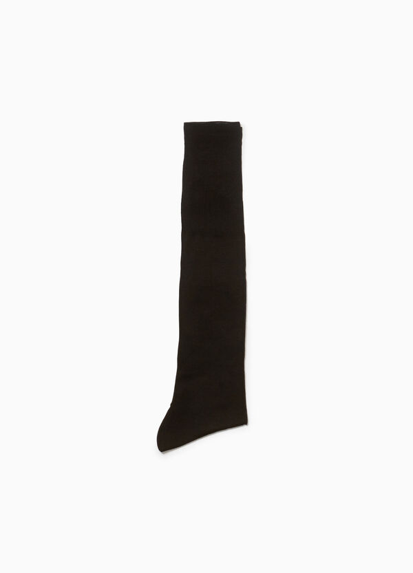 Long 100% cotton embroidered socks