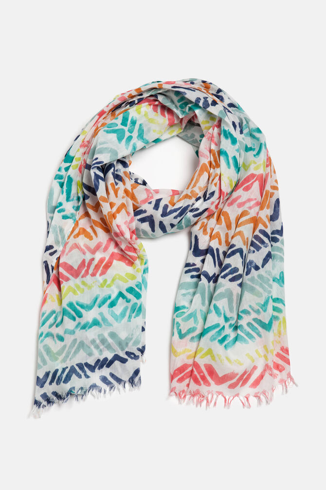 Hatched pattern scarf