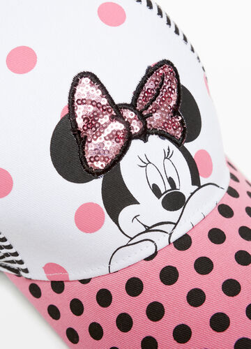 Cappello da baseball righe e pois Minnie