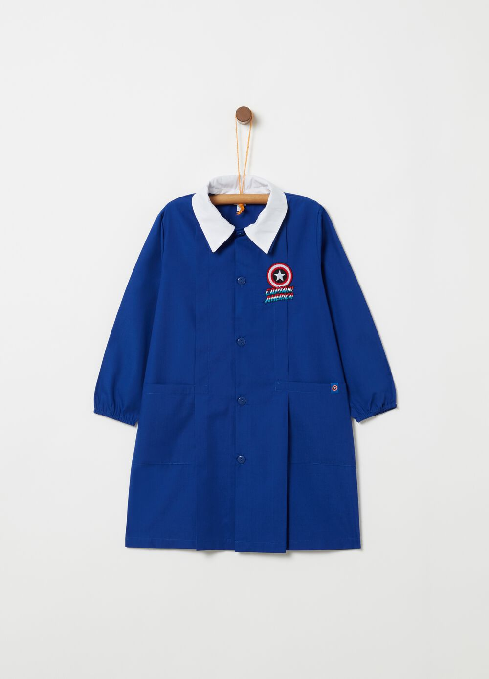 Smock with Captain America embroidery