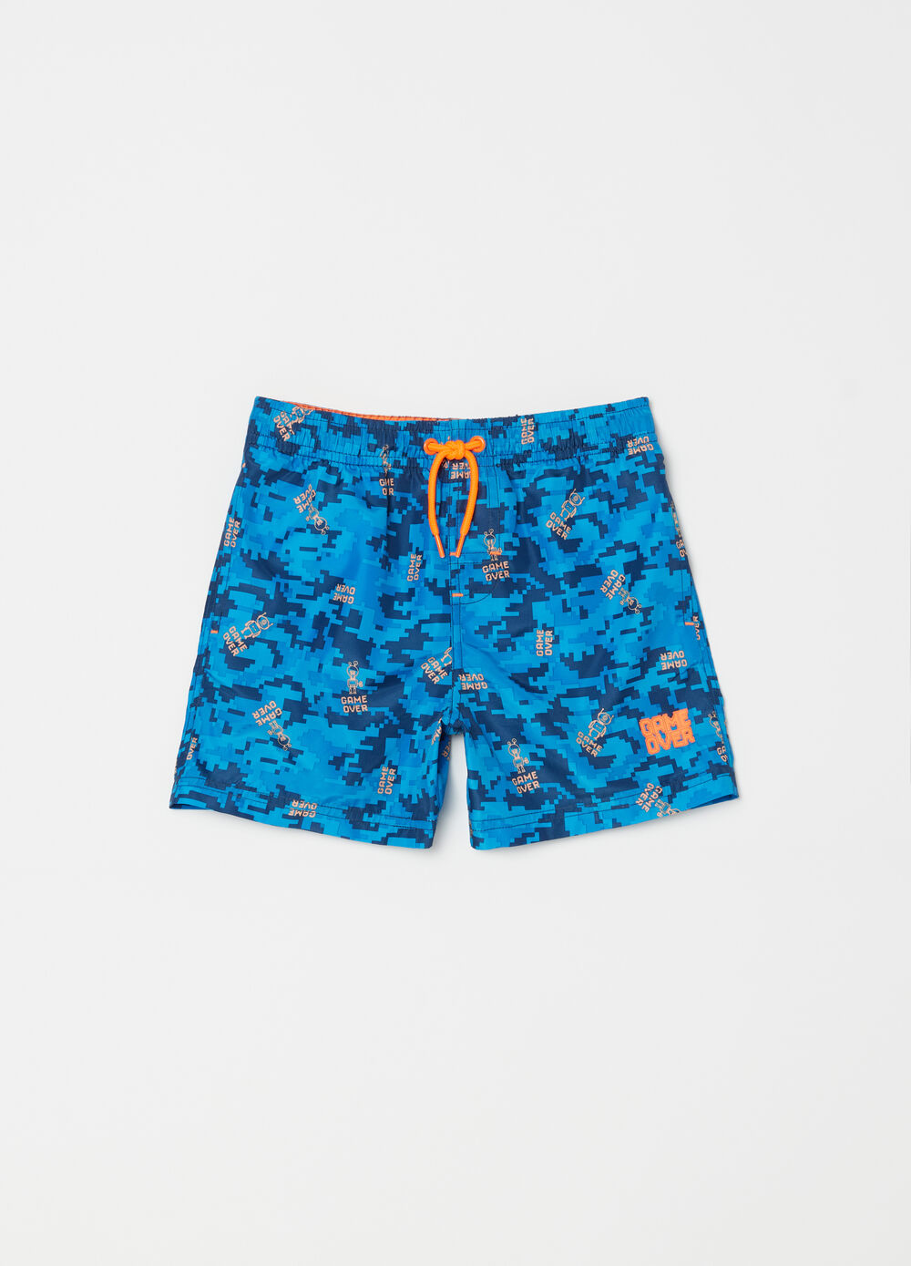 Shorts mare con coulisse camouflage
