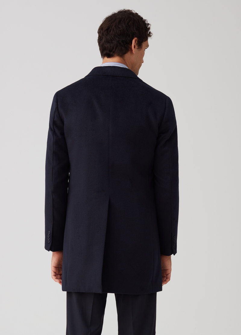 Three-button coat with jacket neck image number null