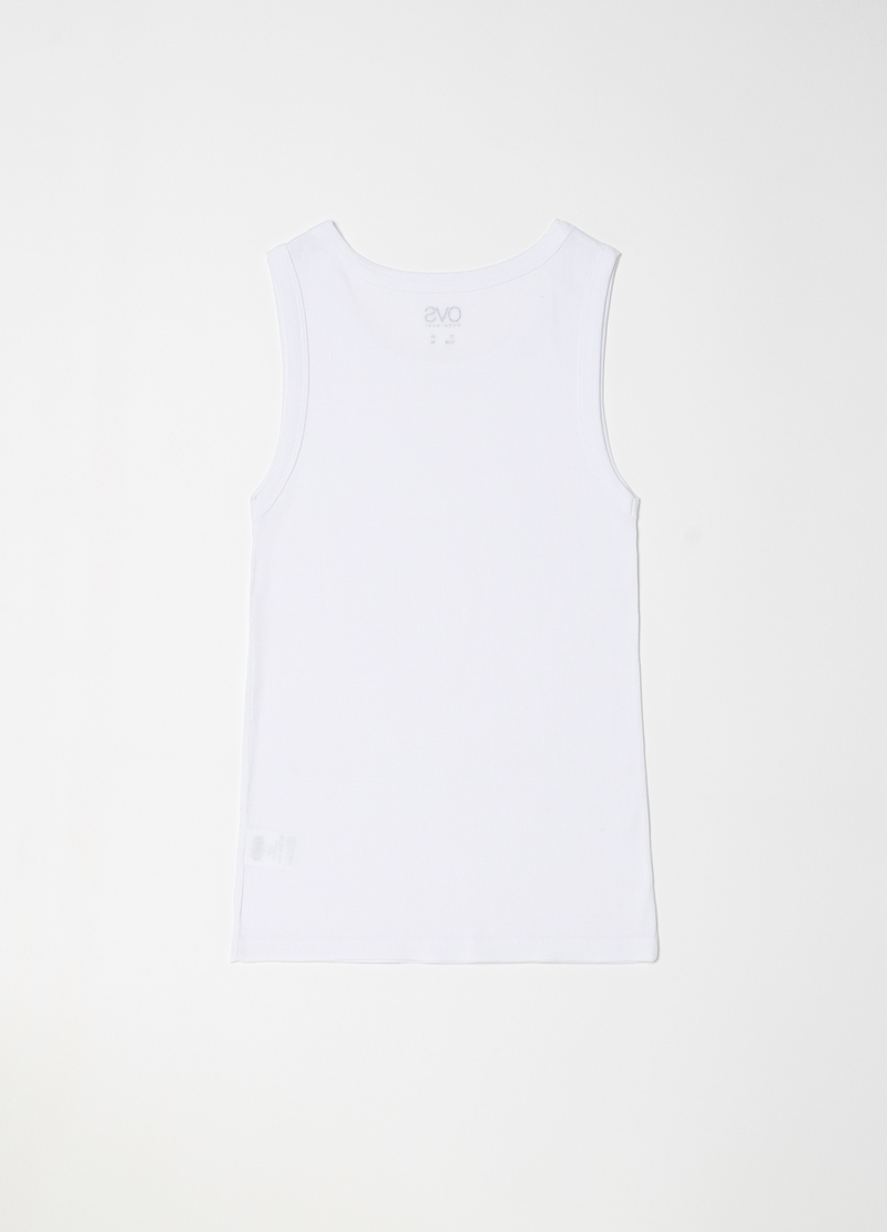 Ribbed racerback top in 100% cotton image number null
