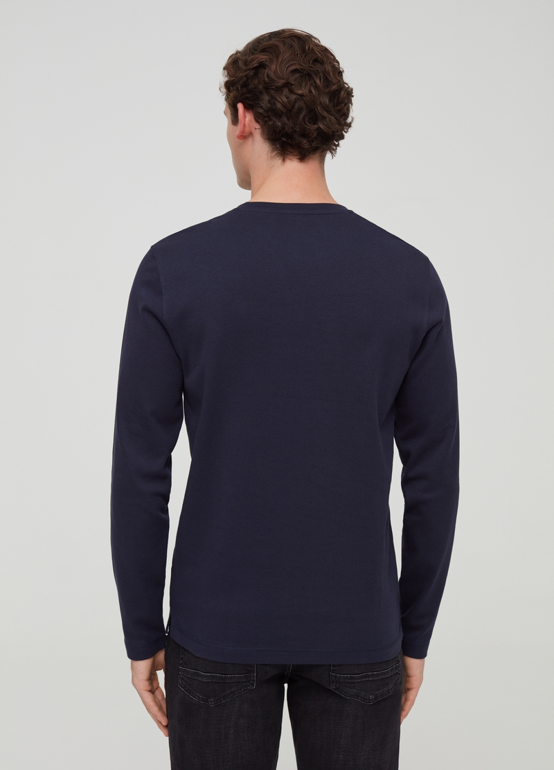T-shirt in puro cotone a maniche lunghe image number null