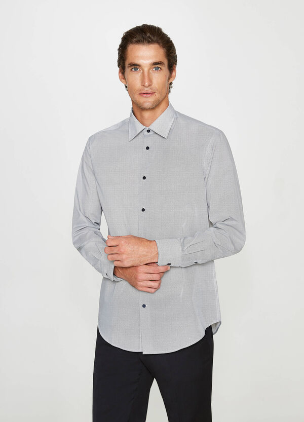 Camicia formale regular fit micro fantasia | OVS