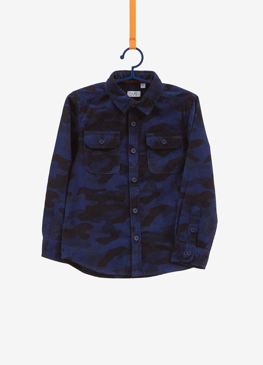 100% cotton shirt with camouflage pattern