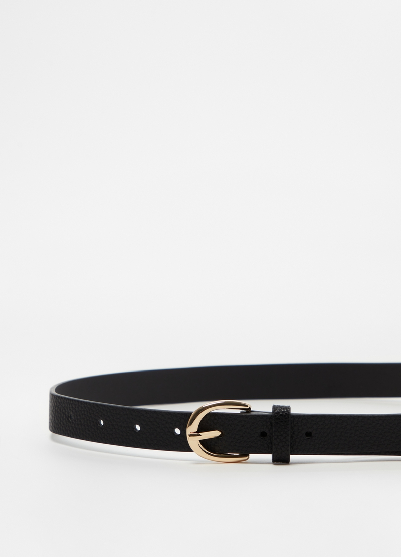 Leather-look textured belt image number null