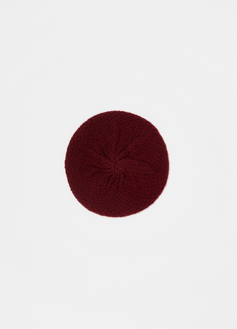 Beret with openwork weave image number null