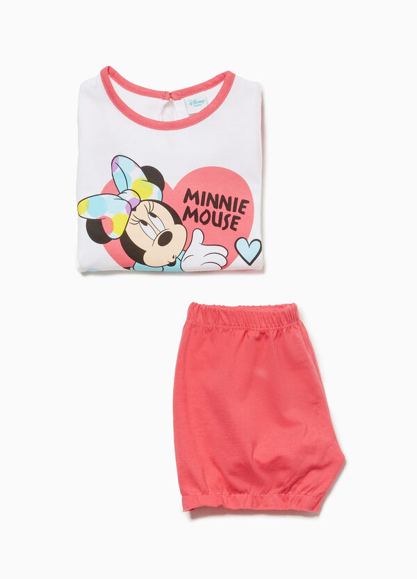 100% cotton pyjamas with Minnie Mouse print