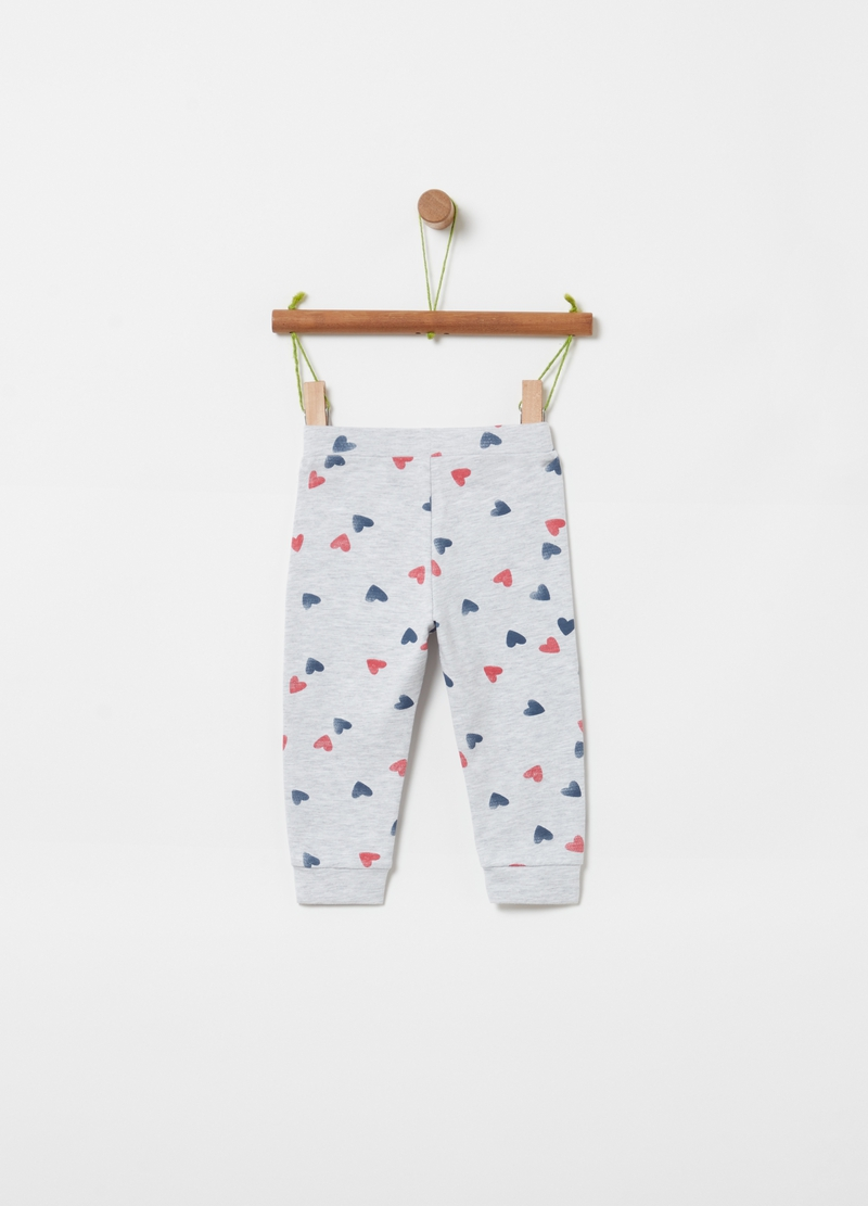 Viscose and organic cotton jogger trousers image number null