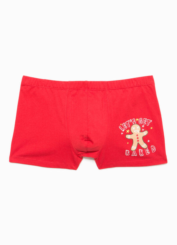Boxer shorts in 100% cotton with Christmas print