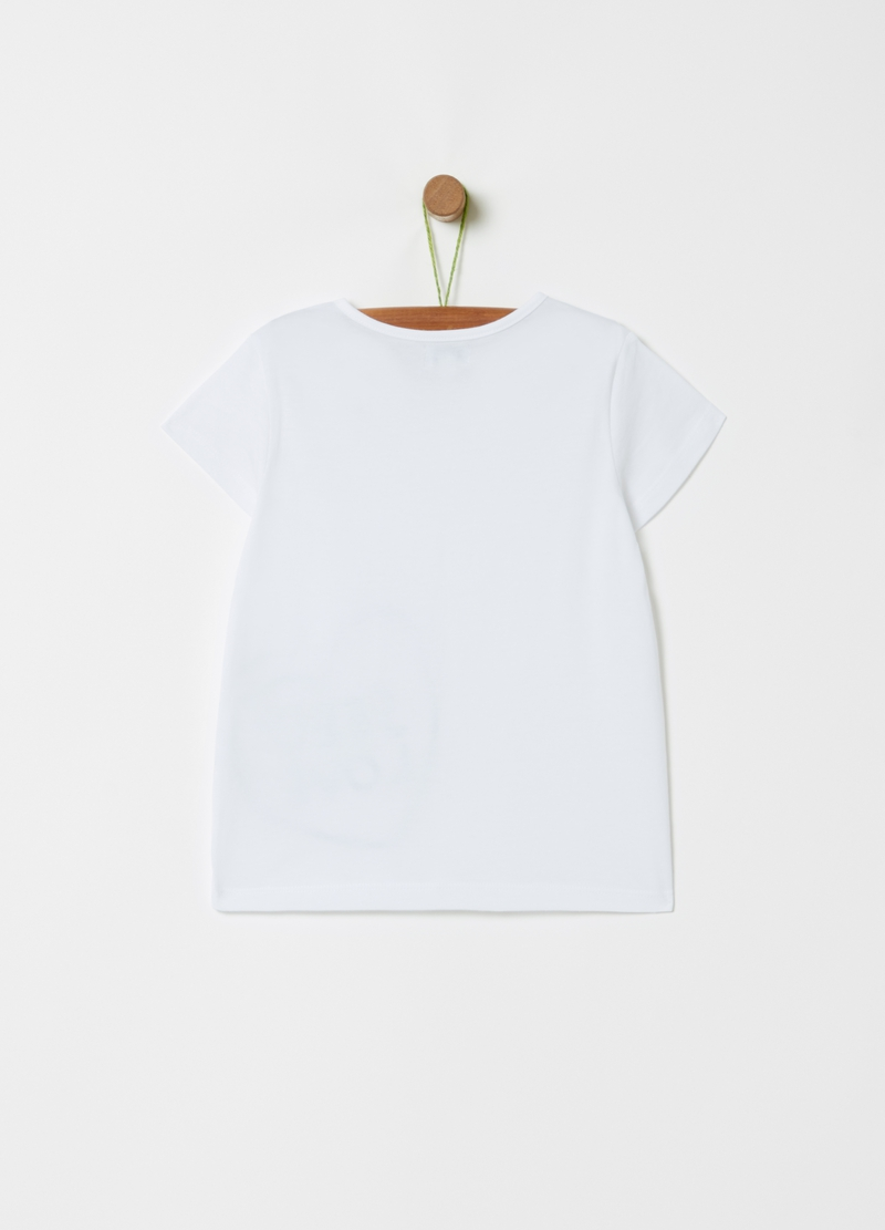 T-shirt puro cotone stampa cuore image number null
