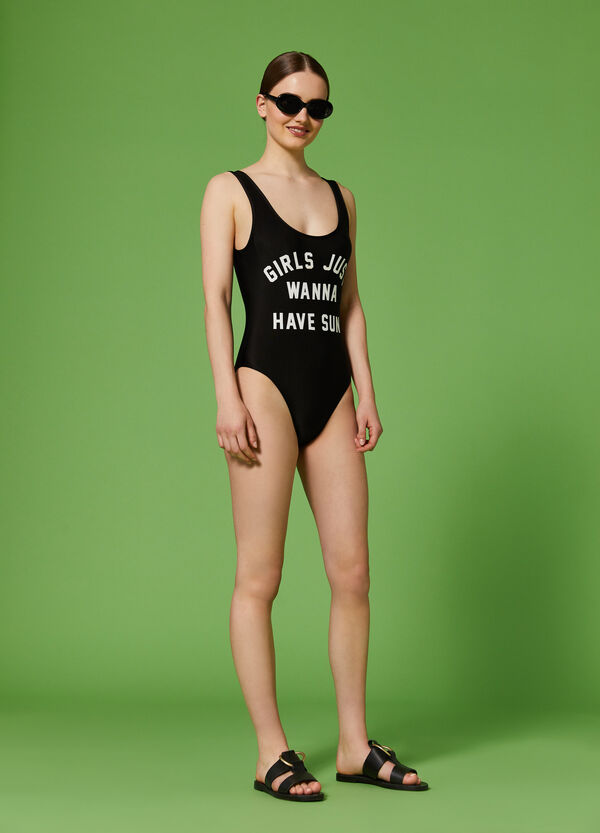 K+K for OVS one-piece swimsuit with lettering