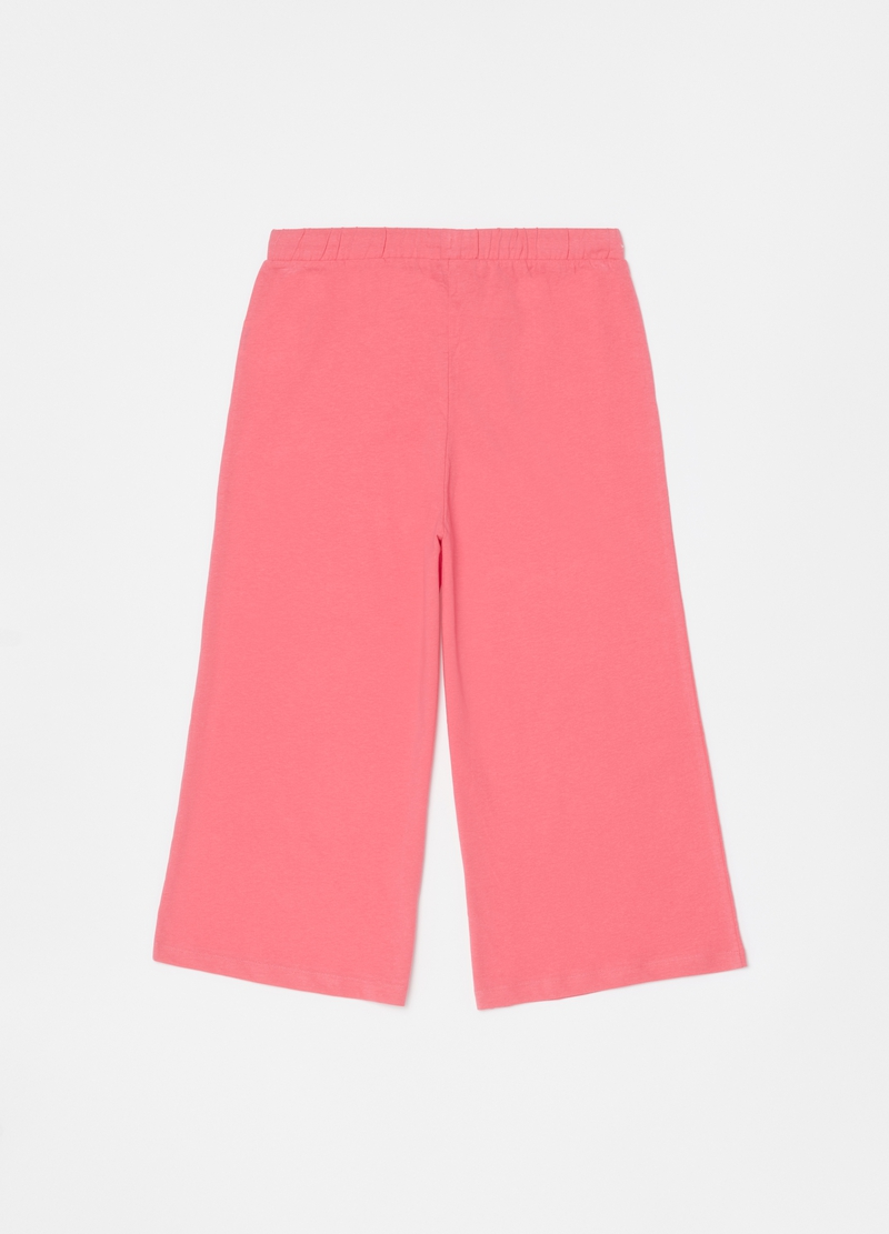 Long solid colour pyjama trousers image number null