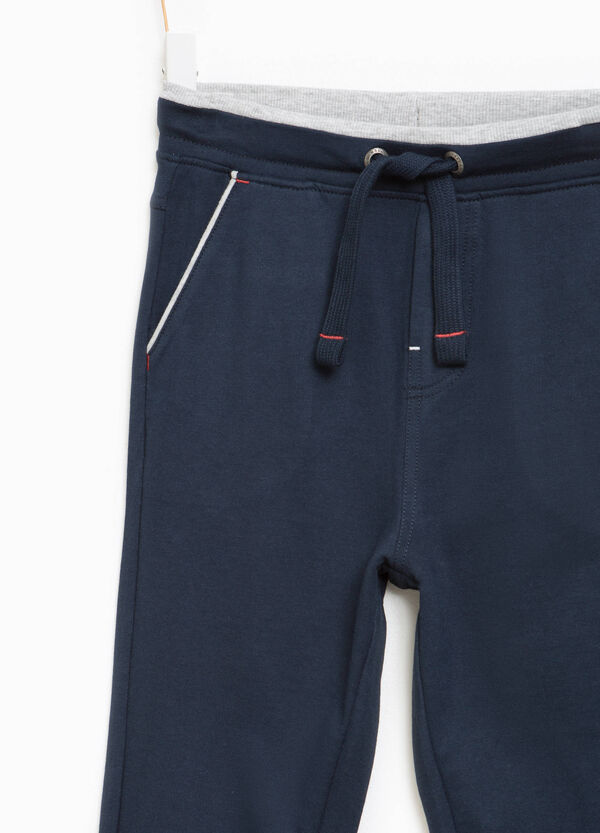 Cotton joggers with drawstring