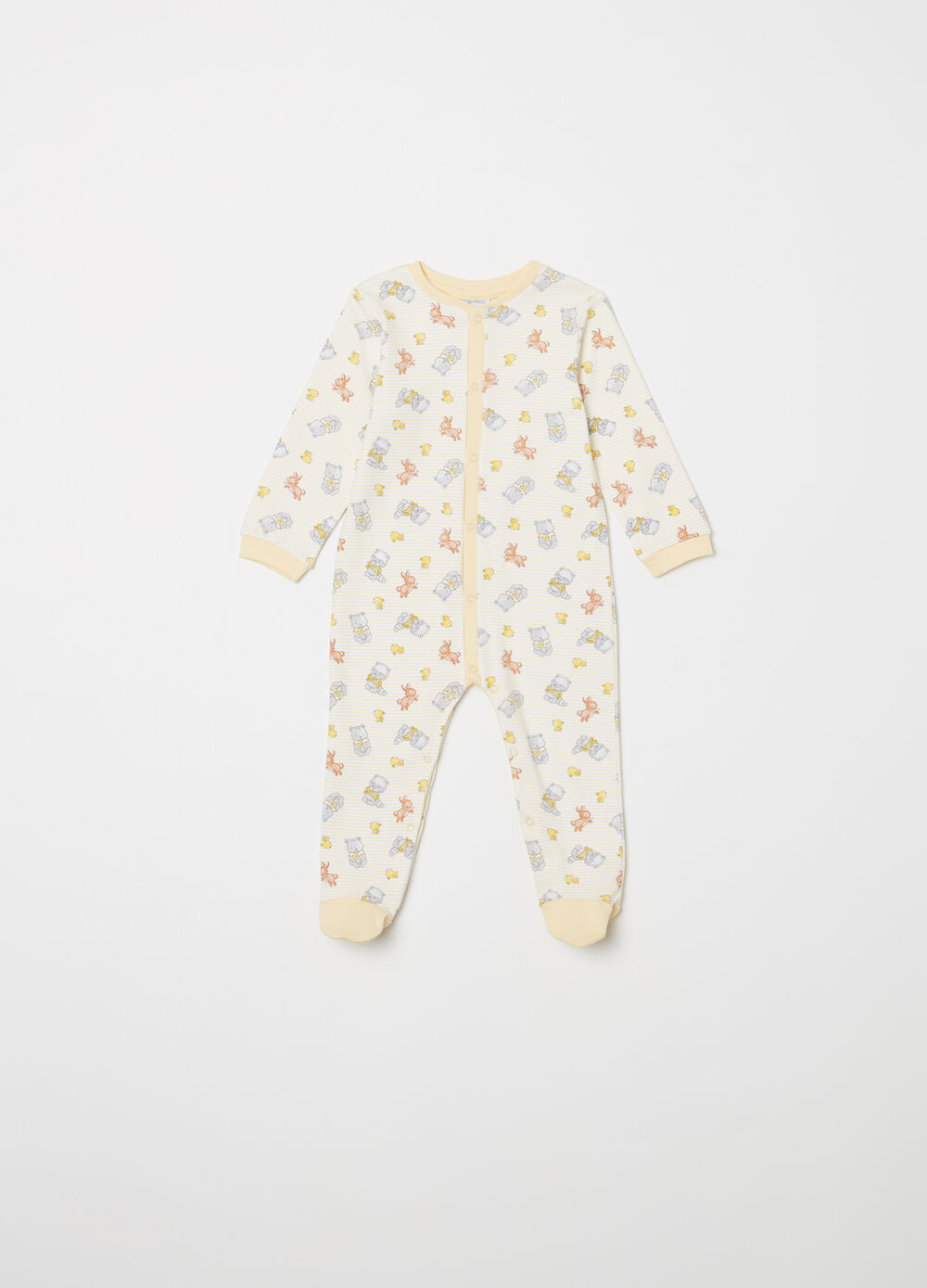 Sleep suit with snap-button fastening