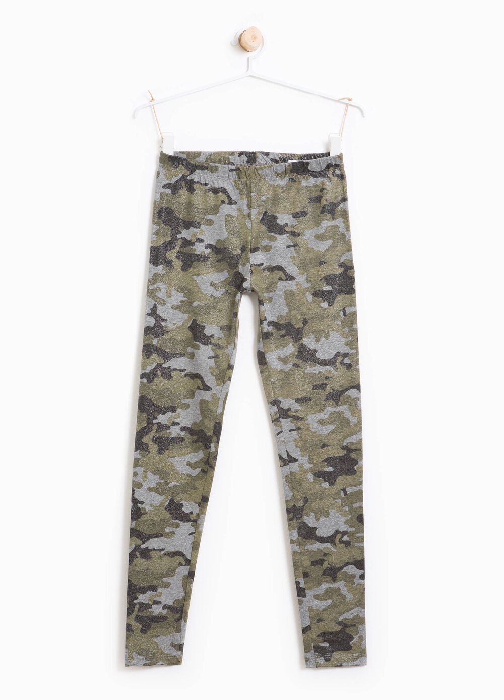 Stretch cotton camouflage leggings