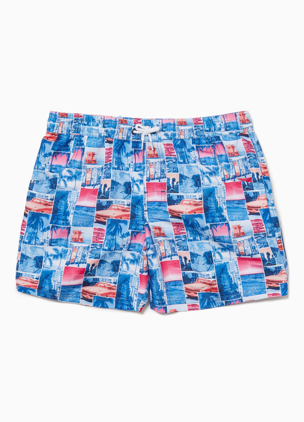 Miami patterned beach shorts