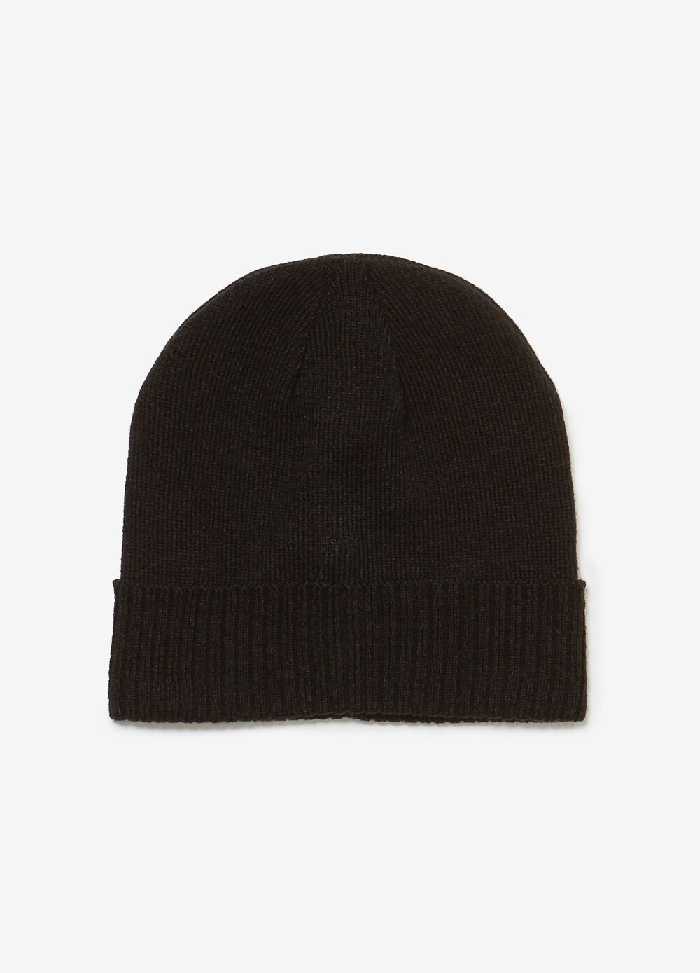 Jersey hat with turn-up