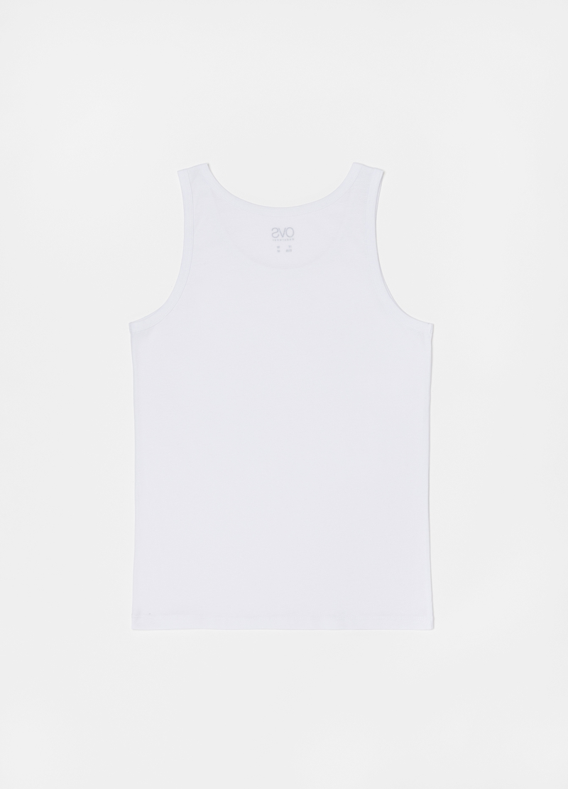 Racerback top with spaghetti straps and round neck image number null