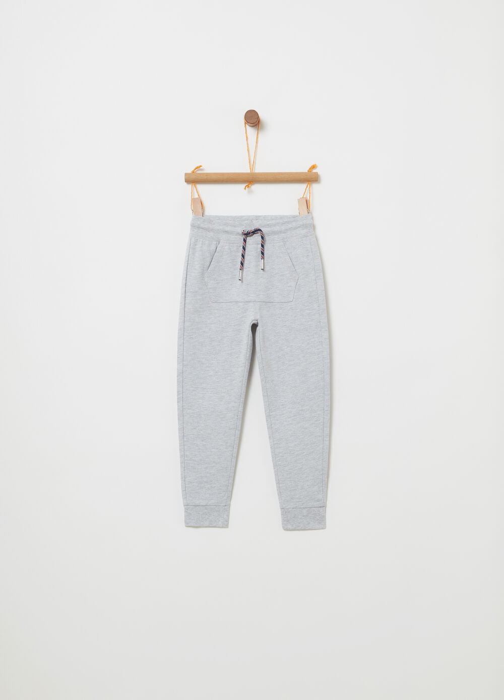 BCI cotton trousers with drawstring waist