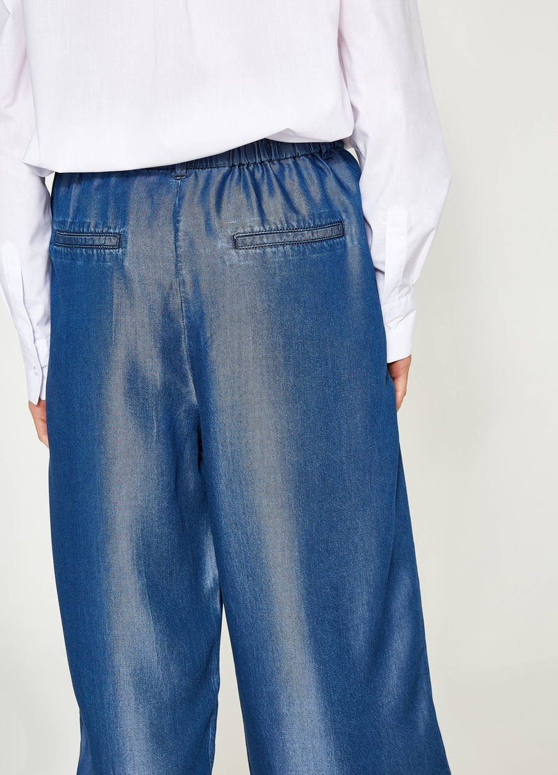Jeans joggings fit modello gaucho image number null