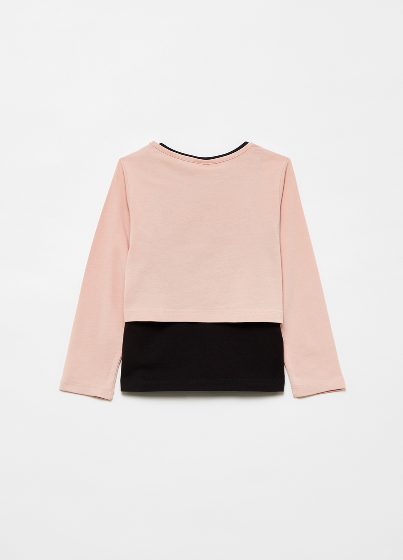 T-shirt crop con tank top in cotone stretch image number null