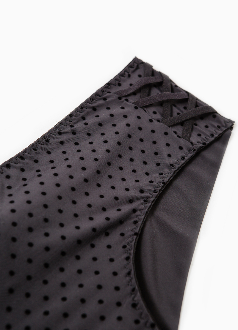 Polka dot pattern stretch French knickers image number null