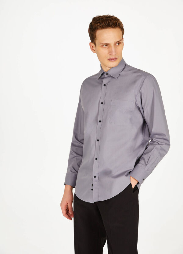 Regular-fit formal classic shirt