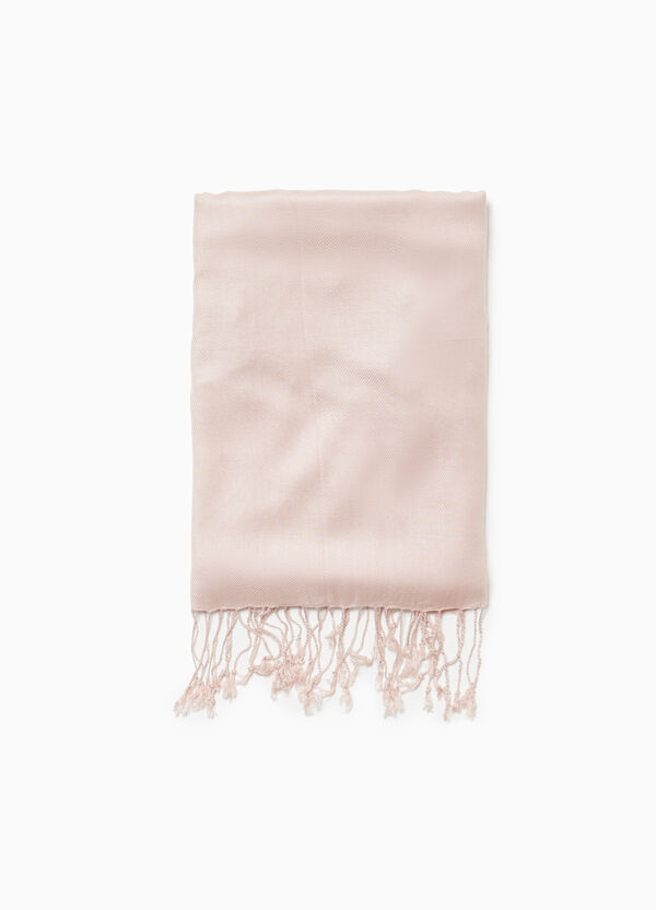 100% viscose scarf with fringing
