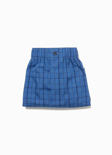 Patterned woven cotton blend boxers
