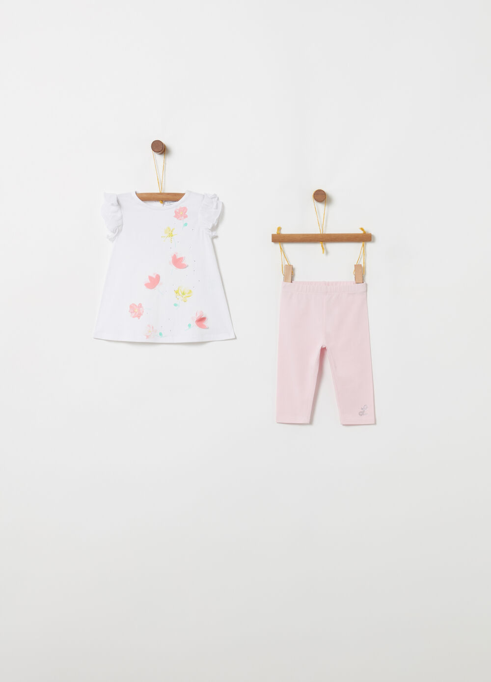 Set t-shirt e leggings in biocotton stretch
