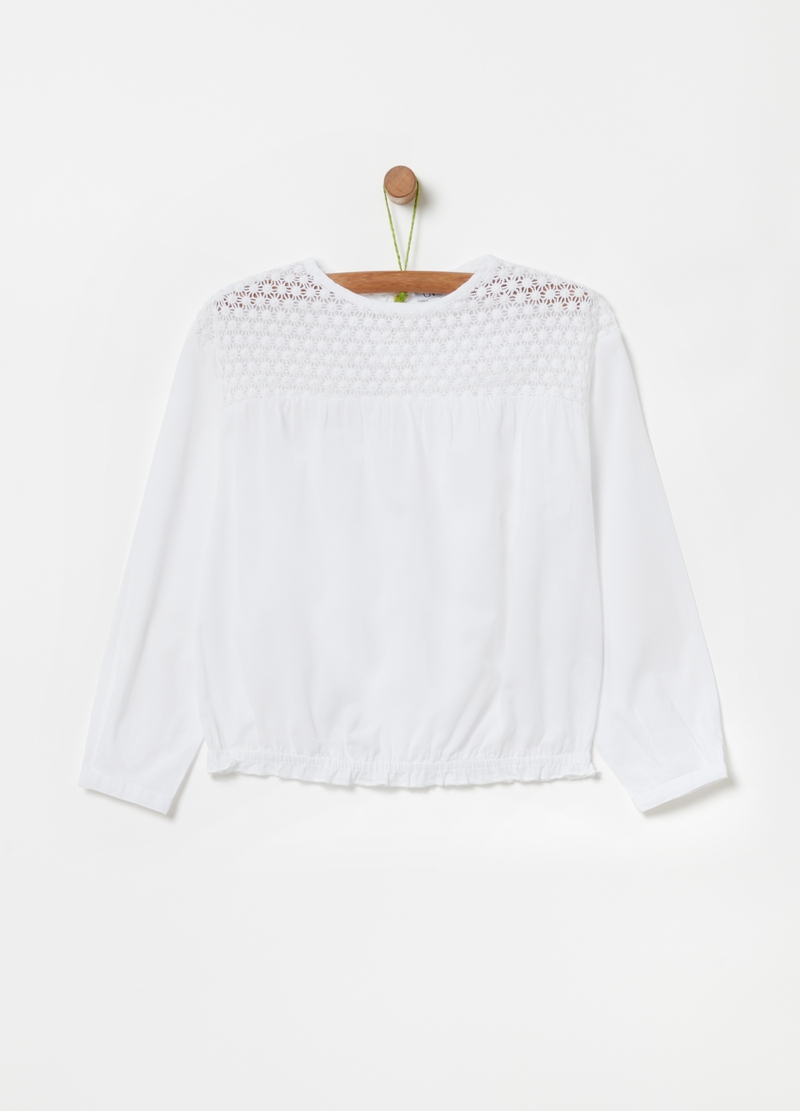100% organic cotton macramé blouse image number null
