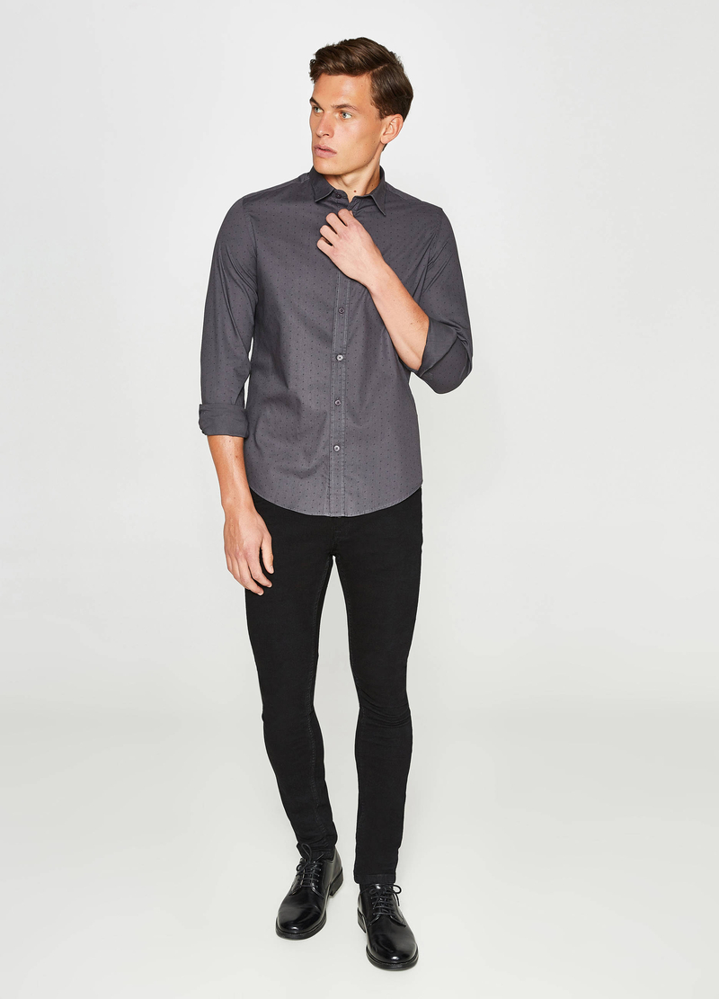 Camicia casual con stampa all-over image number null