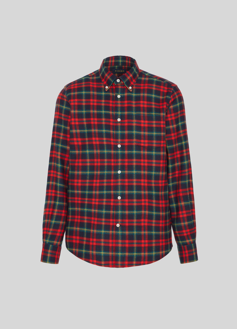 PIOMBO check shirt with button-down collar image number null