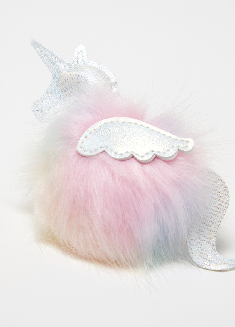 Unicorn keyring with pompom image number null