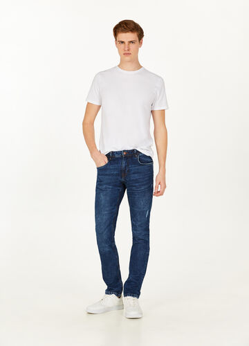 Jeans slim fit stretch used baffature