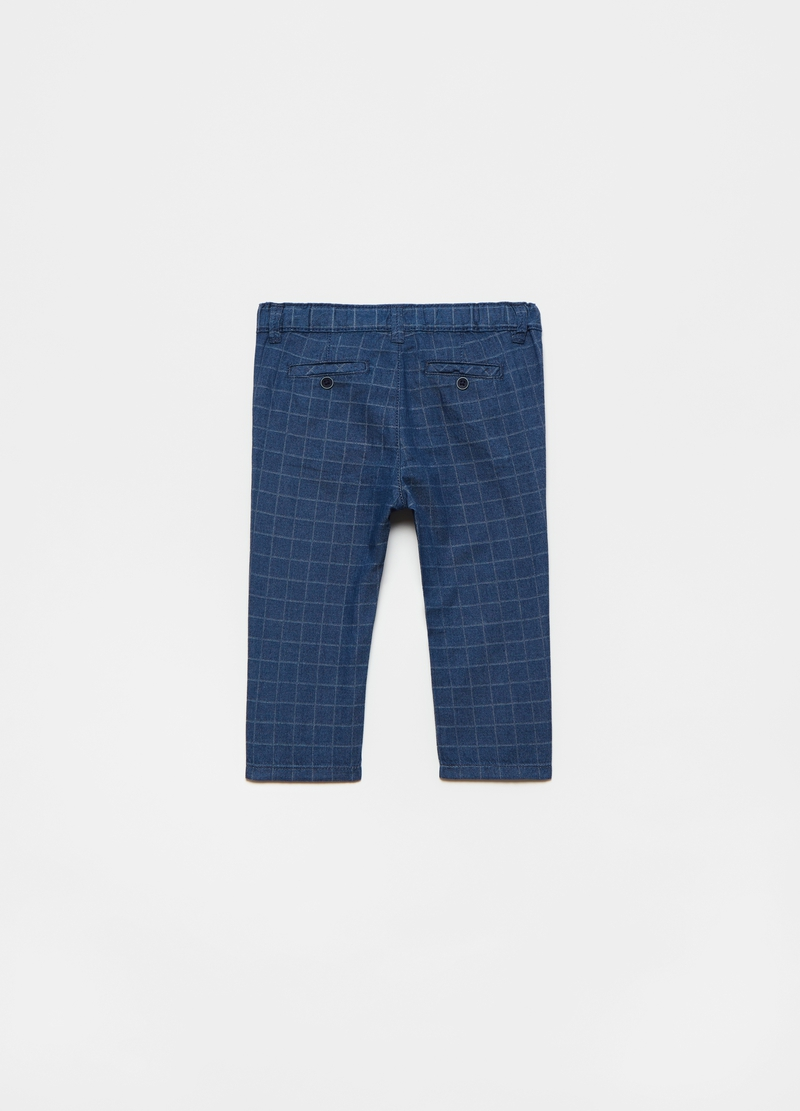 Chino trousers in check twill image number null