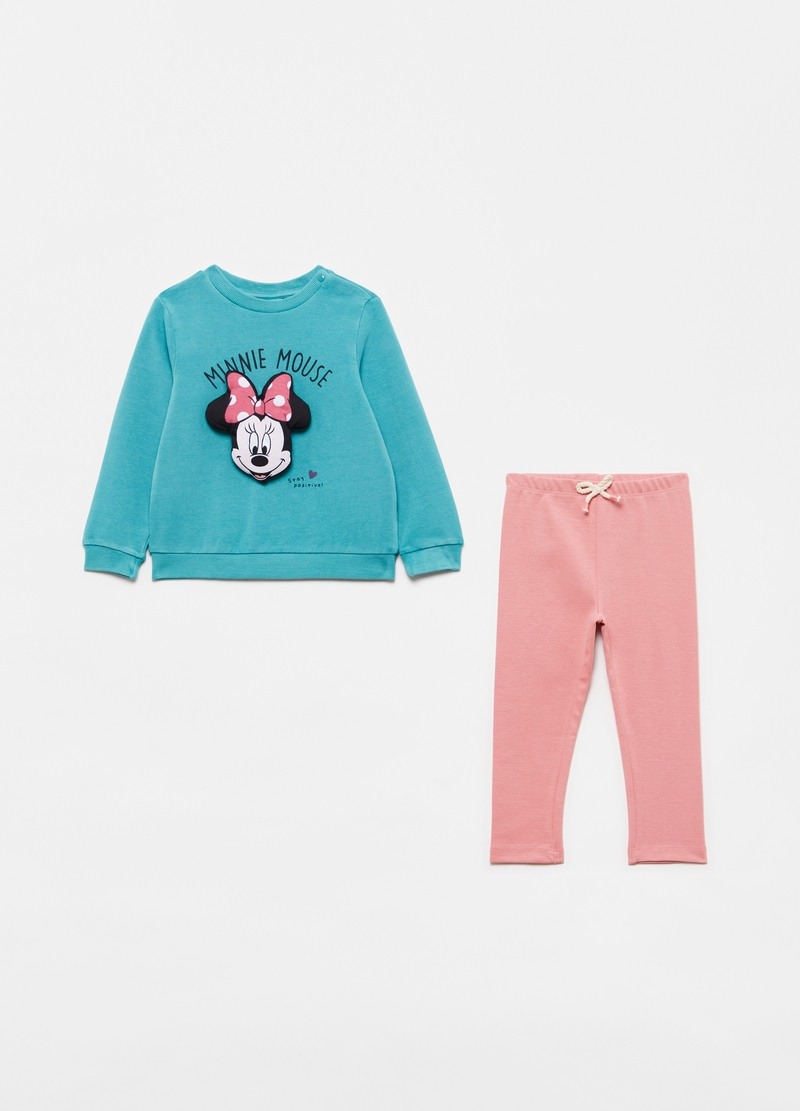 Disney Minnie Mouse jogging set with sweatshirt and leggings image number null