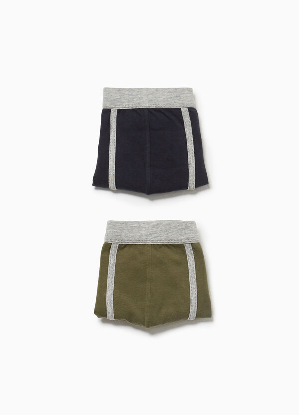 Two-pack stretch cotton boxer shorts with trim
