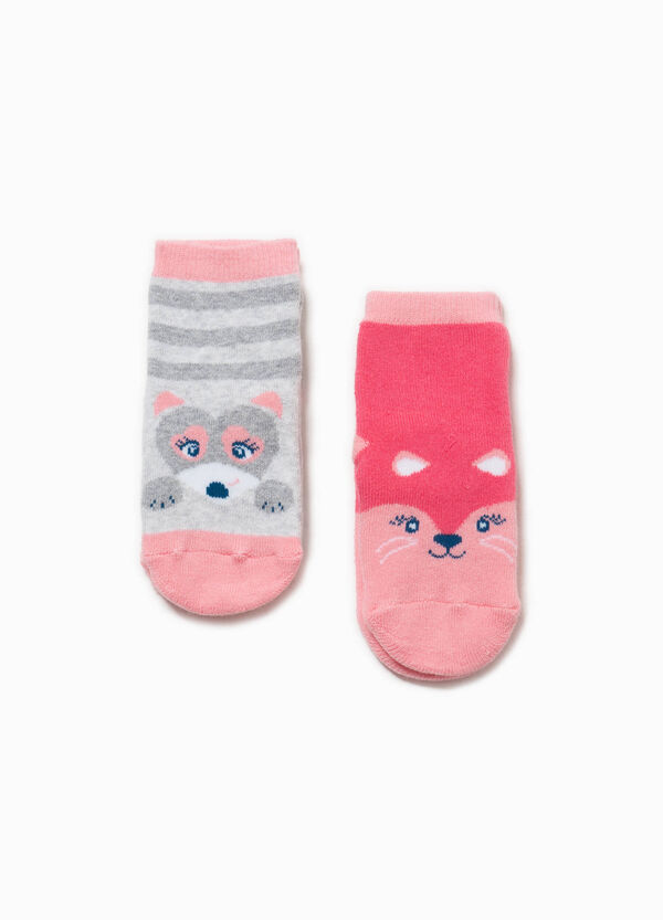 Two-pair pack stretch slipper socks | OVS